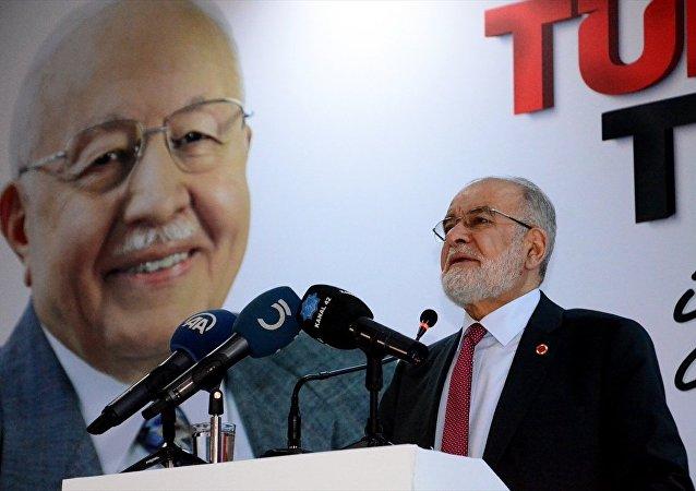Saadet Partisi (SP) Genel Başkanı Temel Karamollaoğlu, Karaman'daki partisinin kongresine katılarak konuşma yaptı.