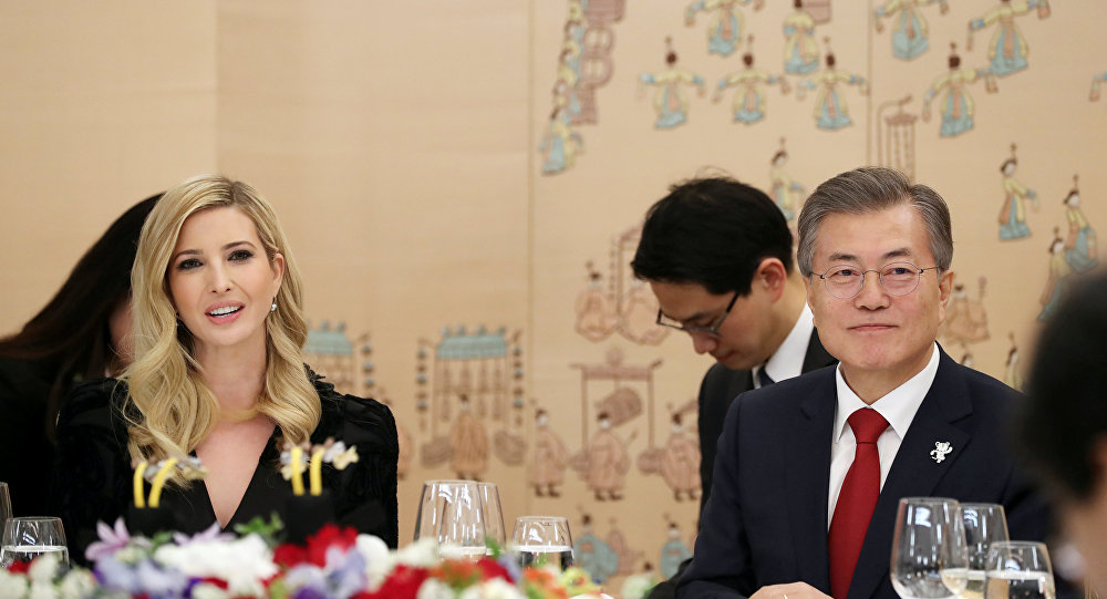 Ivanka Trump- Moon Jae-in