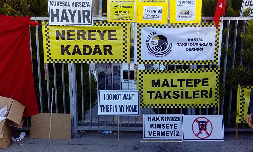 Taksicilerden Uber eylemi: CHP'den destek