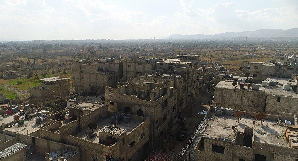 Vfidin mülteci kampı yakınlarındaki Şam ve Doğu Guta arasındaki insani koridor