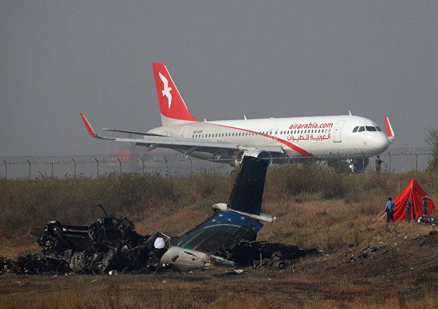 Katmandu Havalimanı-Enkaz