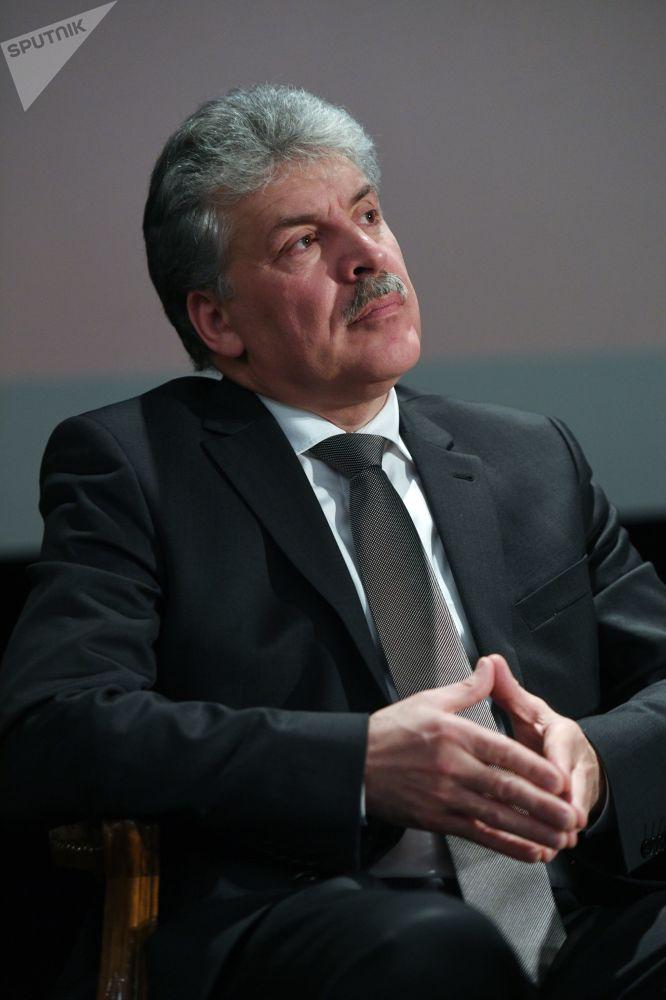 Rusya devlet başkanı adayı Pavel Grudinin