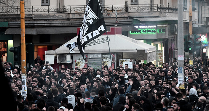 PAOK taraftarları Selanik protesto gösterisi