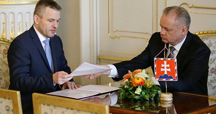 Slovakya Başbakan Yardımcısı Peter Pellegrini- Devlet Başkanı Andrej Kiska