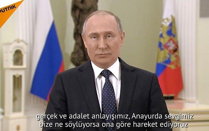 Putin, başkanlık seçimleri öncesi Rus halkına seslendi