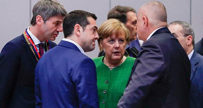 AB zirvesi 23 Şubat 2018 Angela Merkel Aleksis Çipras Boyko Borisov