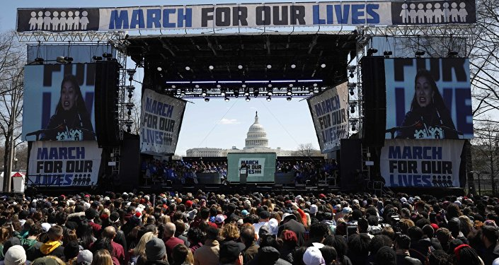 """ABD, silah karşıtı """"March For Our Lives"""" """"Hayatımız için Yürüyüş"""", Washington 25 Mart 2018"""