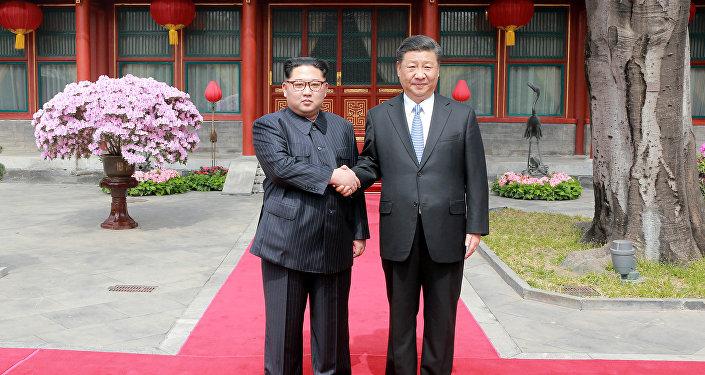 Çin Devlet Başkanı Şi Cinping- Kuzey Kore lideri Kim Jong-un