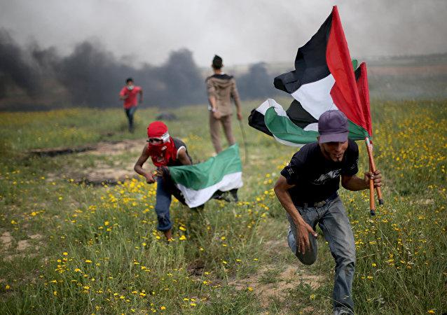Gazze İsrail sınırı protesto çatışma