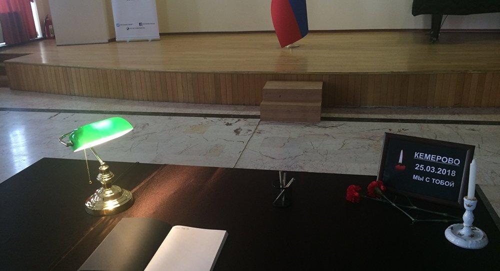 Rusya'daki AVM yangınında yaşamını yitirenler için Ankara'da taziye defteri açıldı