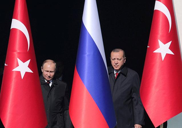 Türkiye Cumhurbaşkanı Recep Tayyip Erdoğan- Rusya Devlet Başkanı Vladimir Putin