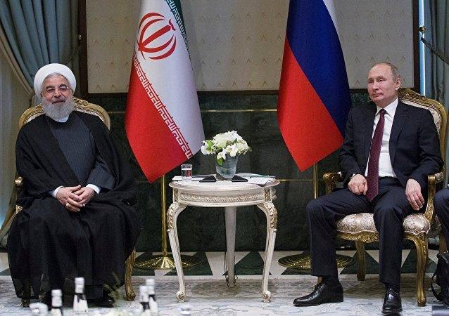 Hasan Ruhani - Vladimir Putin