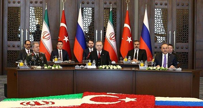 Ankara'da Suriye konulu Türkiye-Rusya-İran zirvesi