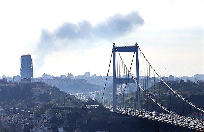 Gaziosmanpaşa'daki hastane yangını Anadolu yakasından da görüldü.