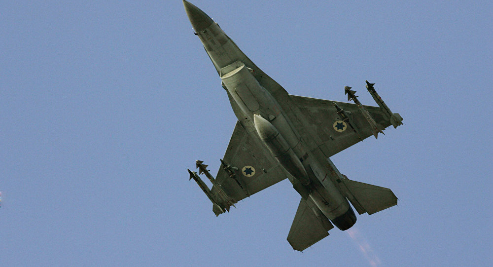 İsrail'e ait bir F-16 savaş uçağı