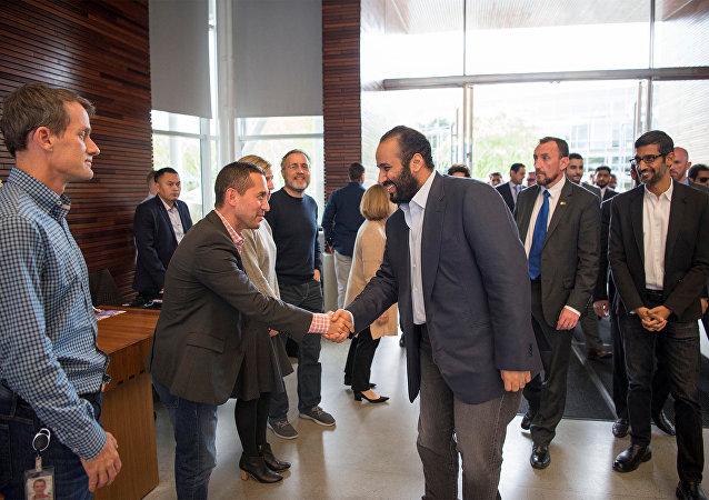 Muhammed bin Selman, Google şirketi, Silikon Vadisi, Kaliforniya, ABD, 6 Nisan 2018