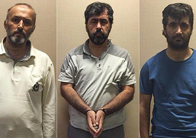 Osman Özpınar, İbrahim Akbaş ve Adnan Demirönal.