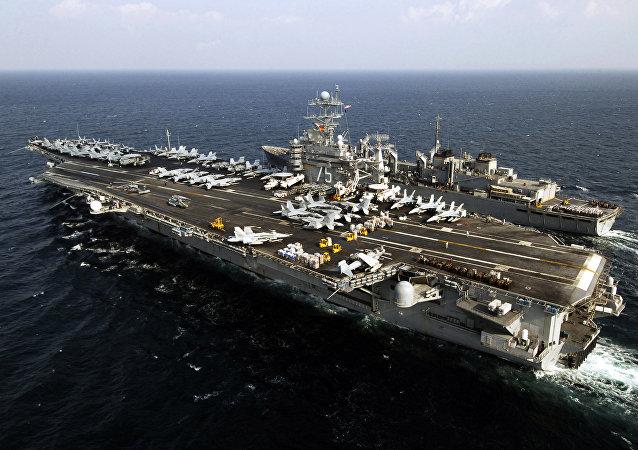 ABD Donanmasının USS Harry Truman Uçak Gemisi