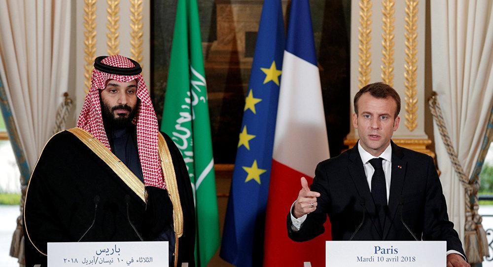 Suudi Arabistan Veliaht Prensi Muhammed bin Salman ile Fransa Cumhurbaşkanı Emmanuel Macron