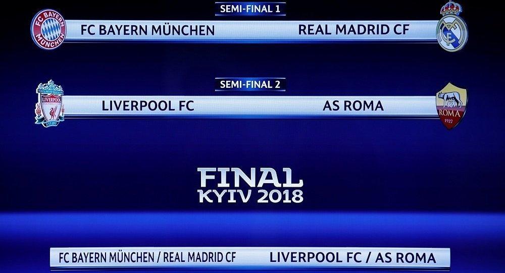 Bayern Münih ile Real Madrid, Liverpool ile Roma eşleşti