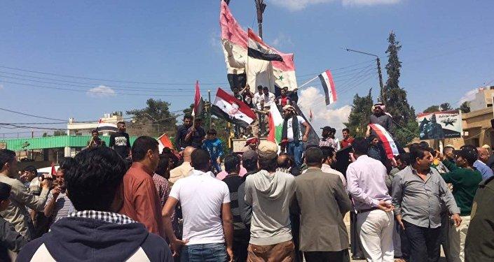 ABD-Fransa-İngiltere'nin saldırısı başkent Şam'da protesto edildi