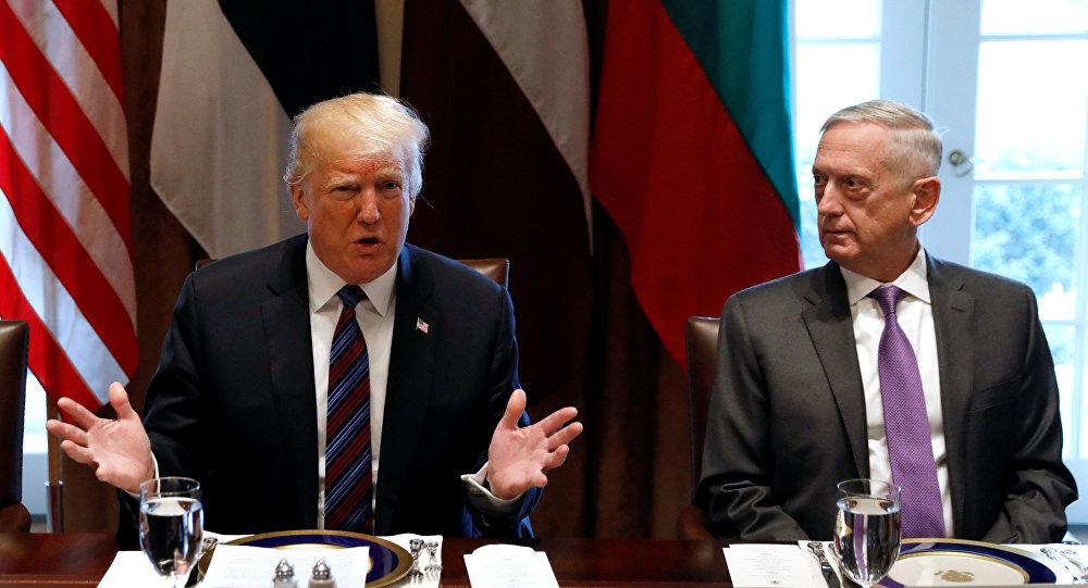 Donald Trump, James Mattis, Beyaz Saray, Baltık zirvesi, 3 Nisan 2018
