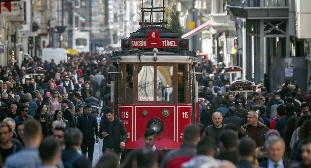 Taksim, İstiklal Caddesi, Beyoğlu, kalabalık