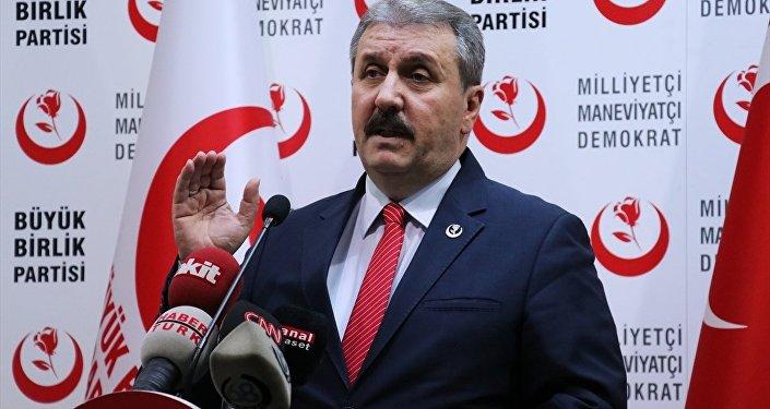 Büyük Birlik Partisi (BBP) Genel Başkanı Mustafa Destici