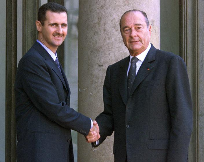 Suriye Devlet Başkanı Beşar Esad- Eski Fransa Cumhurbaşkanı Jacques Chirac