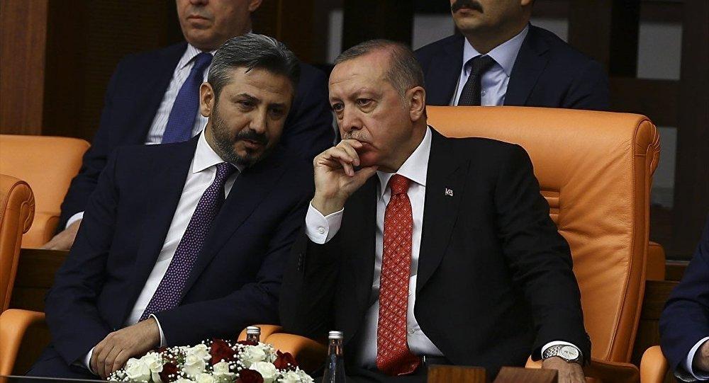Genel Kurul Toplantısı'na Cumhurbaşkanı Recep Tayyip Erdoğan ve TBMM Başkanvekili Ahmet Aydın da (solda) katıldı.
