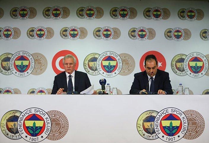 Fenerbahçe Kulübü Başkanı Aziz Yıldırım ve Asbaşkan Şekip Mosturoğlu, tatil edilen derbiyle ilgili Ülker Stadı'nda düzenledikleri basın toplantısında açıklamalarda bulundu.