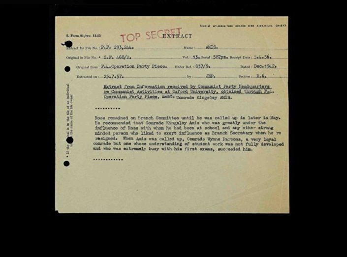 Information supplied by an MI5 mole in the British Communist Party via F Branch