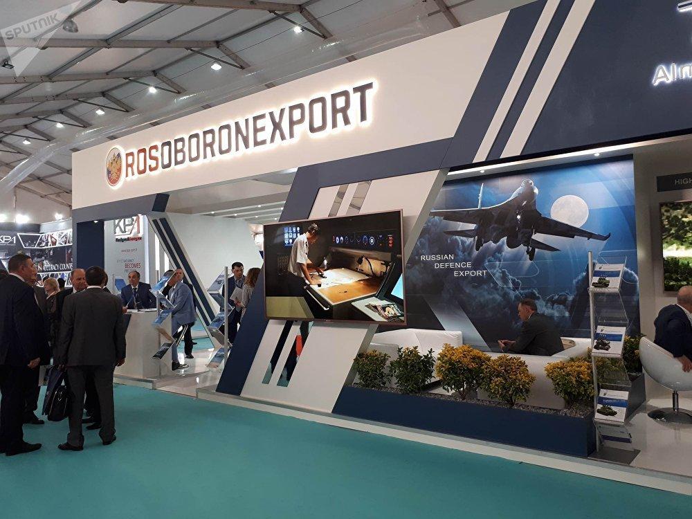 Rusya devlet silah ihracat şirketi Rosoboroneksport standı