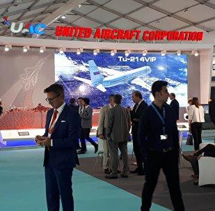 Birleşik Havacılık Şirketi'nin standı