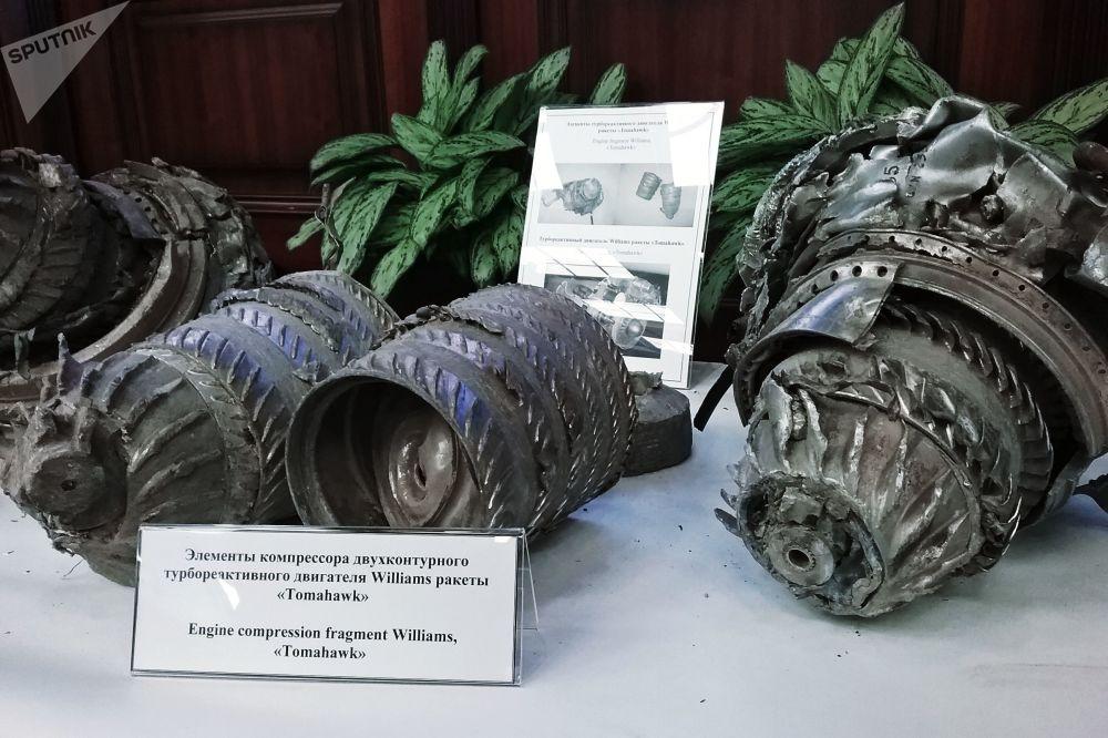 Tomahawk motorunun parçaları