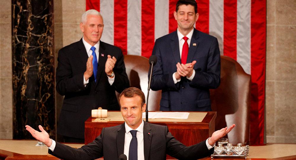 Fransa Cumhurbaşkanı Emmanuel Macron, ABD Kongresi'nde konuşma yaptı