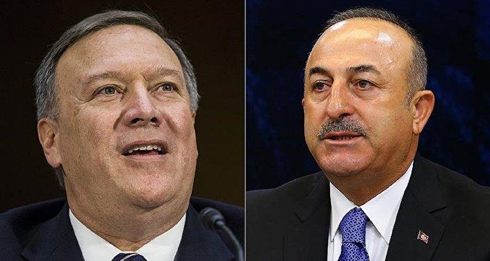 ABD'nin yeni Dışişleri Bakanı Pompeo - Dışişleri Bakanları Toplantısı'nda Dışişleri Bakanı Çavuşoğlu