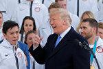 Donald Trump, Amerikan Olimpiyat Takımı'nı ağırlarken