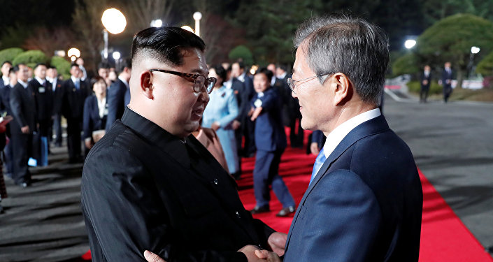 Kuzey Kore lideri Kim Jong-un ve Güney Kore Devlet Başkanı Moon Jae-in