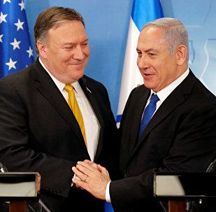 ABD Dışişleri Bakanı Mike Pompeo ve İsrail Başbakanı Benyamin Netanyahu
