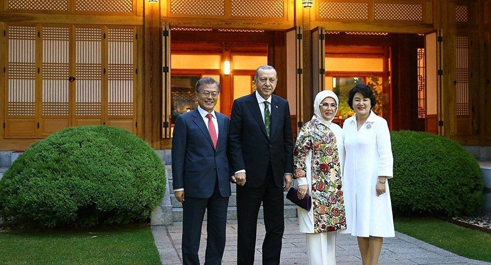 Moon Jae-in - Recep Tayyip Erdoğan