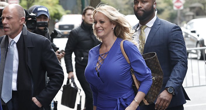 Stormy Daniels (Stephanie Clifford), New York City, 17 Nisan 2018.