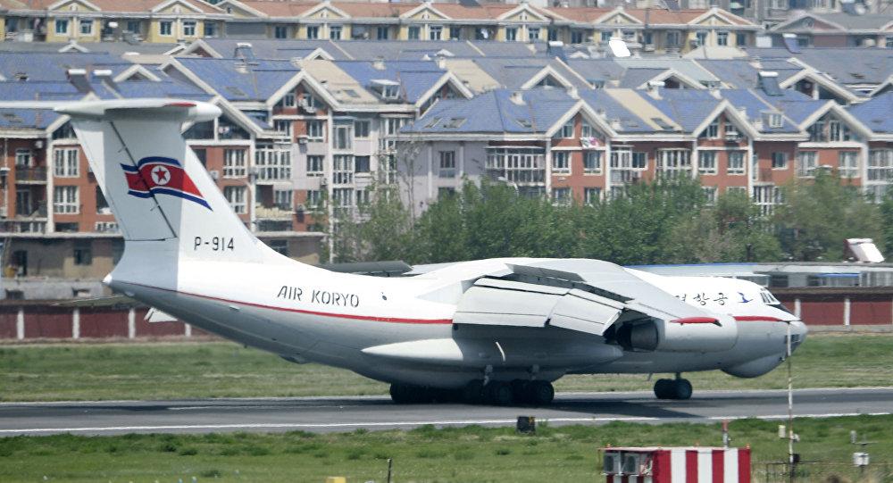Çin'in Dalian kentine inen Air Koryo uçağı