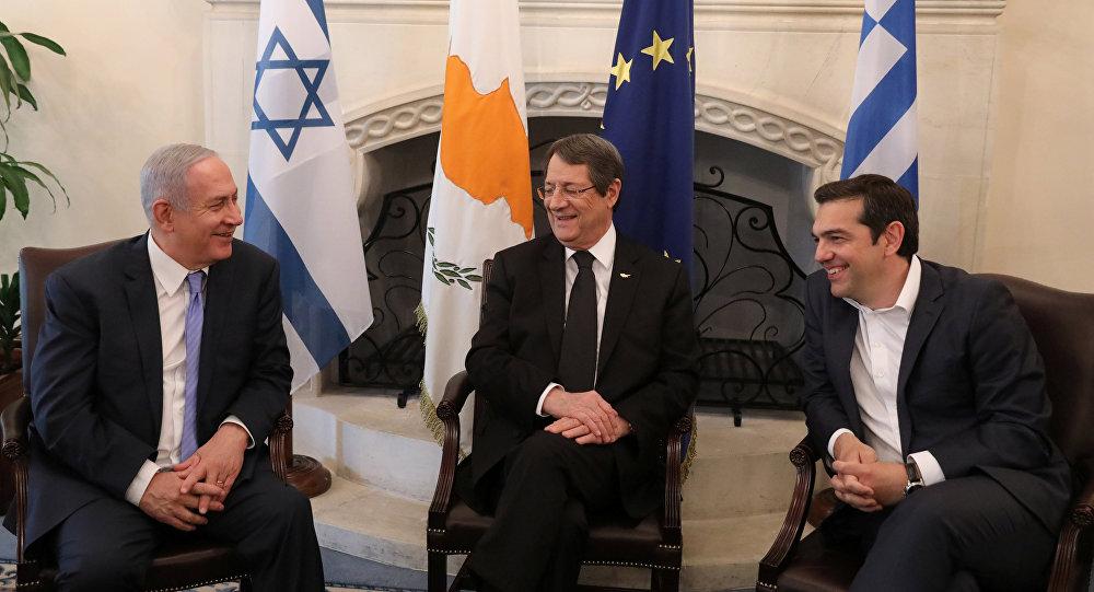 Netanyahu-Anastasiadis-Çipras