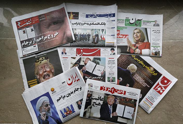 Trump'ın ABD'yi nükleer anlaşmadan çektiğini açıklaması İran gazetelerinin manşetinde