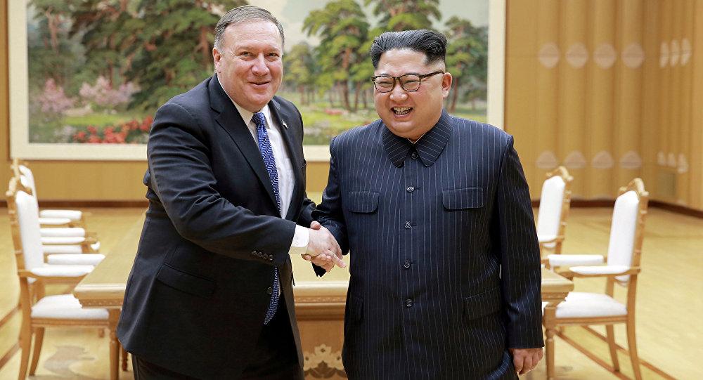Kuzey Kore lideri Kim Jong-un ve ABD Dışişleri Bakanı Mike Pompeo'nun ikinci görüşmesinin fotoğrafları yayınlandı.