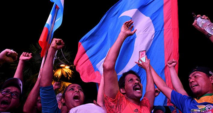 Malezya'da seçimin galibi muhalif ittifak Pakatan Harapan destekçileri kutlama yaptı