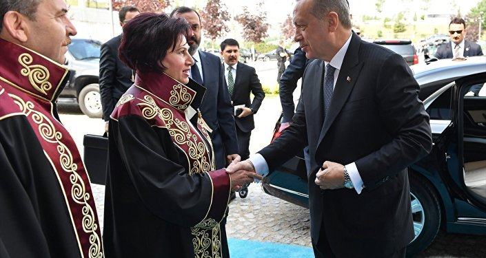 Danıştay Başkanı Zerrin Güngör ve Cumhurbaşkanı Recep Tayyip Erdoğan