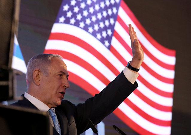 İsrail Başbakanı Benyamin Netanyahu ABD büyükelçiliği galasında konuştu