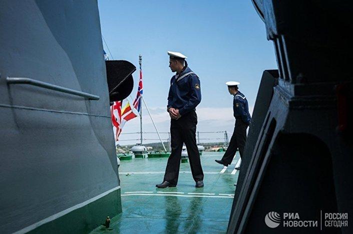 Karadeniz Filosu'nda görevli denizci Sivastopol'deki savaş gemisinde